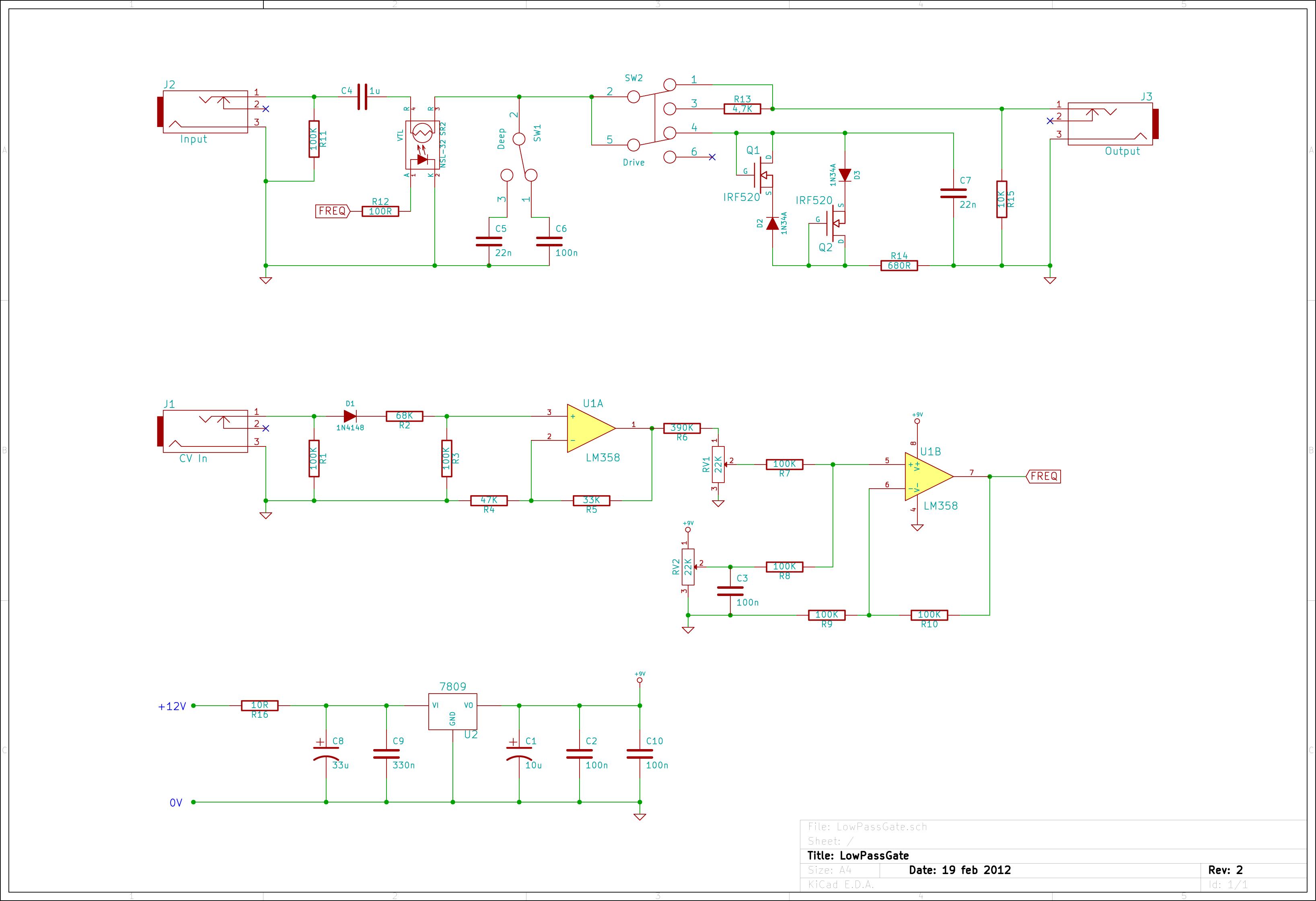 Simple Synth Circuit Engine Control Wiring Diagram 555 Oscillator Schematic Andreas Siagian Module Diy Lowpassgate Att U00e9nuateurs Eurorack Modular