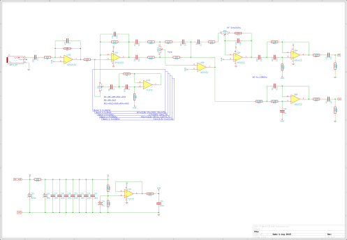 5 band EQ and crossover schematic